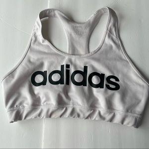 Adidas logo sports bra size xl